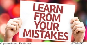 Learn From Your Mistakes card with colorful background