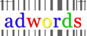 adwords word with Barcode design - suitable for your application_project_web_ banner_ advertising_etc